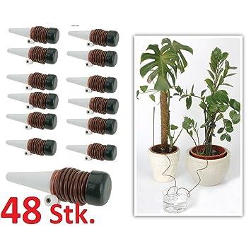 48 X de riego para plantas Sistema de Riego dispensador de agua vacaciones Pipeta: Amazon.es: Jardín