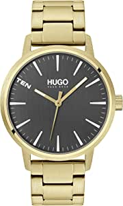 HUGO by Hugo Boss Men's #STAND Quartz Watch with Stainless Steel Strap, yellow gold, 20 (Model: 1530142)
