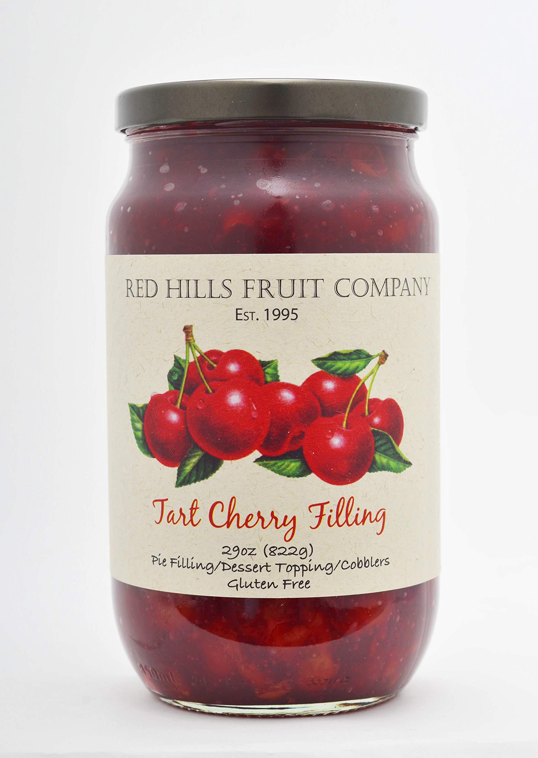 Red Hills Fruit Company Pie Filling, Tart Cherry, 29 Ounce (Pack of 4) by Red Hills Fruit Company