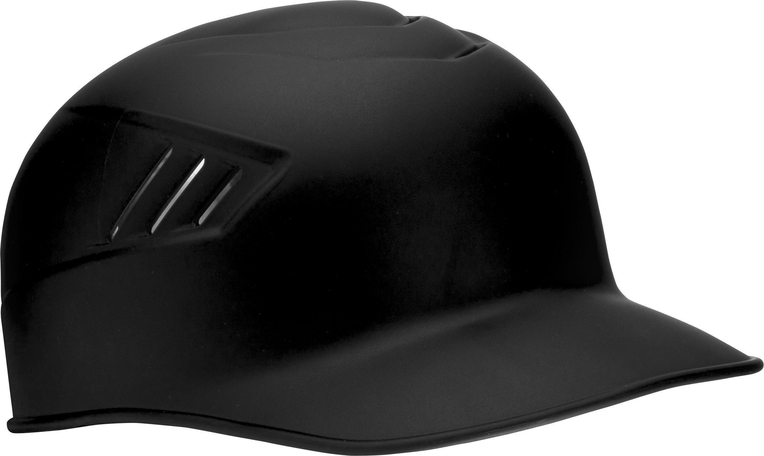 Rawlings Coolflo Matte Style Alpha Sized Base Coach Helmet, Black, Medium by Rawlings