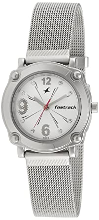 5b0fac63c Image Unavailable. Image not available for. Colour  Fastrack Hip Hop Analog  Silver Dial Women s Watch ...
