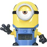 BulbBotz Despicable Me 3 2021234 Mel Minions Kids Night Light Alarm Clock with Characterized Sound | yellow/blue | plastic | 5.5 inches tall | LCD display | boy girl | official