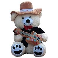 Amardeep and Co Teddy Rockstar Bear 40 Cms - Cream