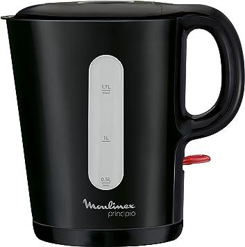 Moulinex Principio - Hervidor de agua (capacidad de 1.7 l, filtro anti-impurezas, paro automático), color negro: Amazon.es: Hogar