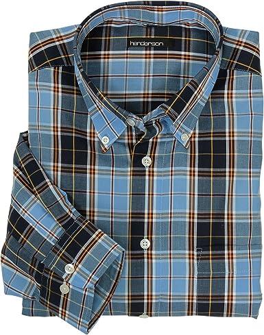 GCM Camisa de cuadros azul de Henderson grandes tamaños hasta ...