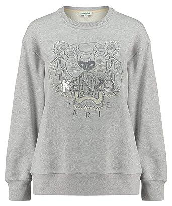 Kenzo Damen Schimmernd/Glühend Tiger Sweatshirt - grau, S ...