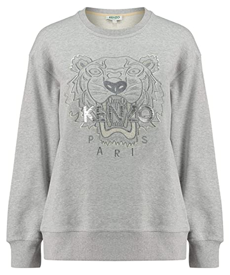 56310104 Kenzo Women's Shimmery/Glowing Tiger Sweatshirt: Amazon.co ...
