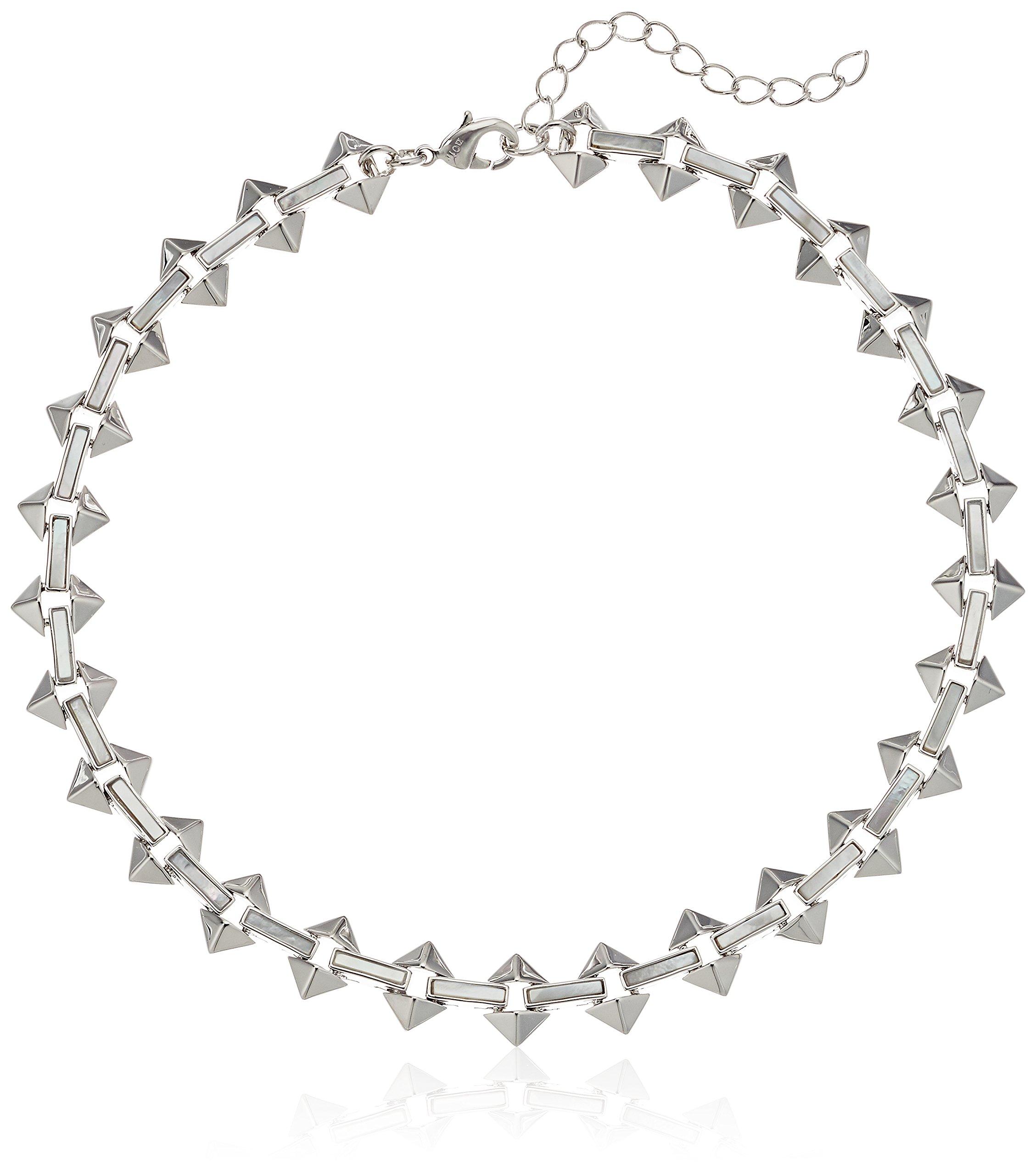 Noir Jewelry Milky Moon Silver Choker Necklace