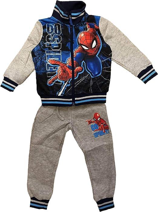 Chándal Spiderman 3 4 5 6 7 8 años Invierno 2020 Gris 8 años ...