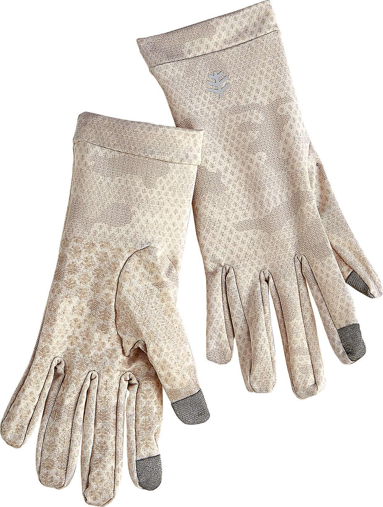 Coolibar UPF 50+ Unisex UV Gloves - Sun Protective (Small- Tan Coolibar Camo)