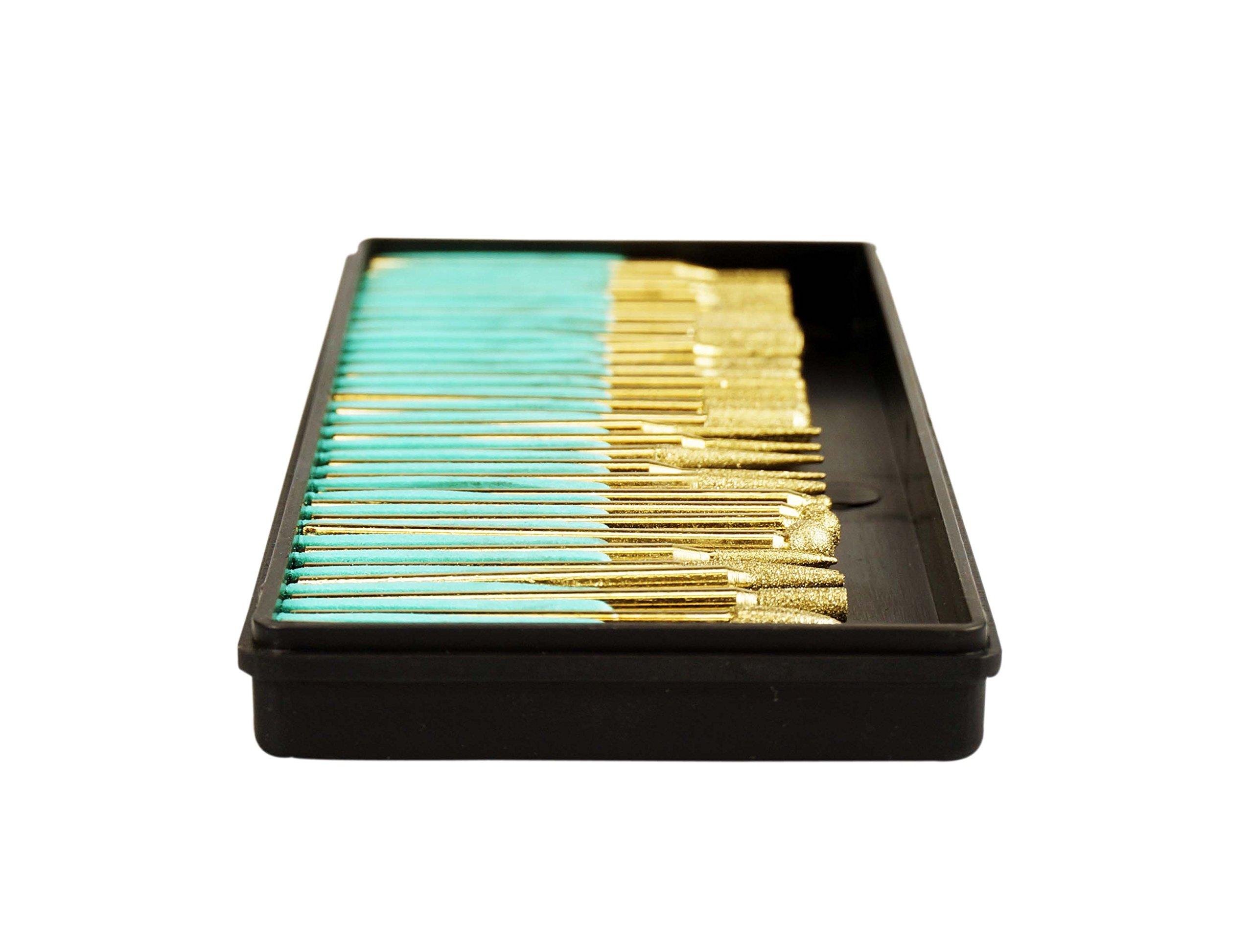 Se 82331tf 30 Piece Set Of Titanium Coated Diamond Burrs