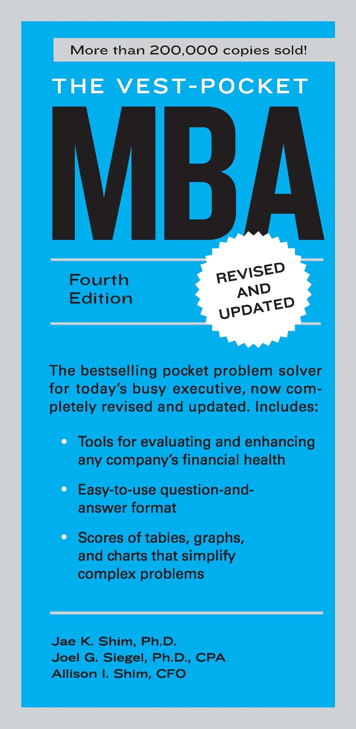 The vest pocket mba fourth edition jae k shim joel g siegel the vest pocket mba fourth edition jae k shim joel g siegel allison i shim 9781591844334 amazon books fandeluxe Image collections