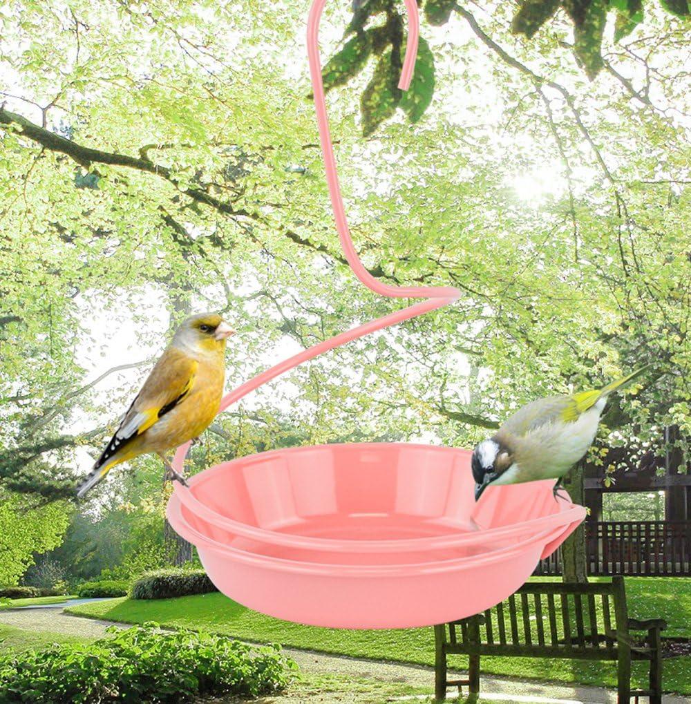 WandLee Hanging Small Bird Bath Birdfeeder, Garden Outdoor Yard Hummingbird Canary Wild Birds Waterer and BirdBath