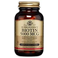 Solgar – Biotin 5,000 mcg, 50 Vegetable Capsules