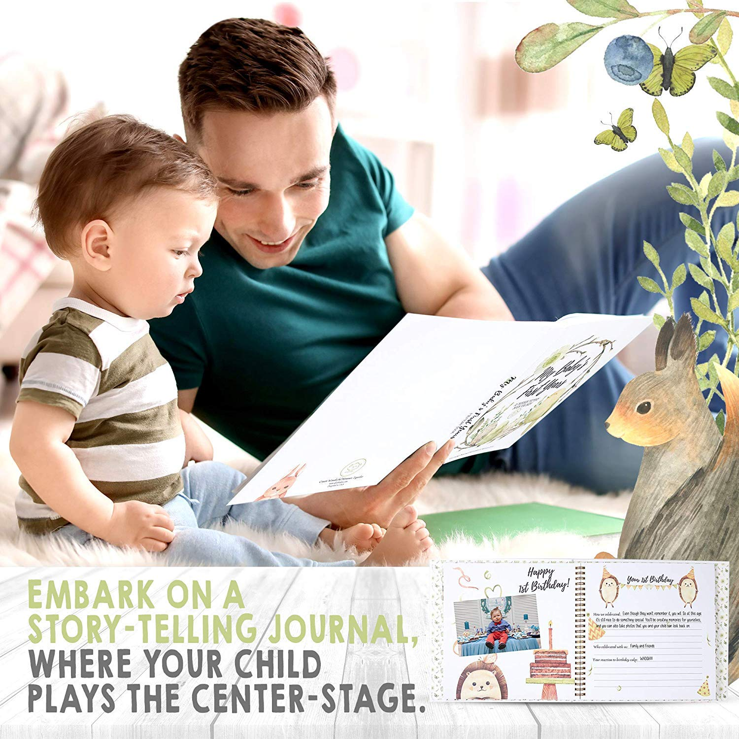 Baby First 5 Years Memory Book Journal/
