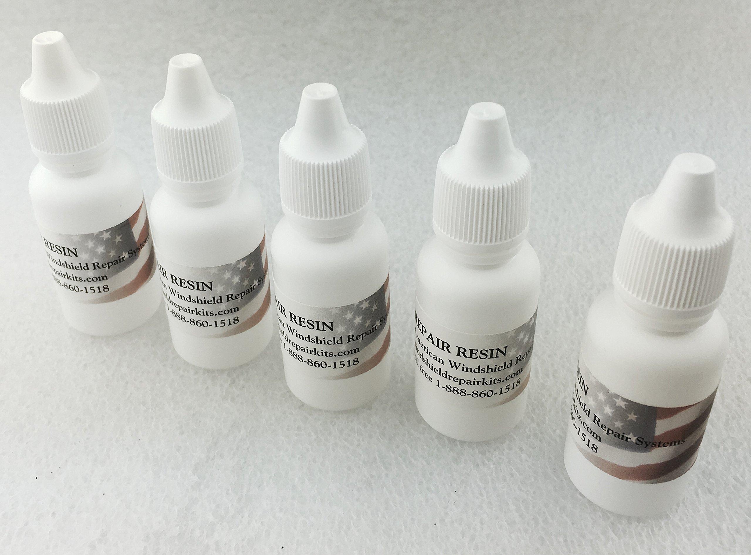 American Windshield Repair Resin 15ml Bottle (Five Bottle Pack)
