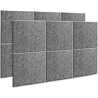 AGPtEK Panel Acústico, 12 Paneles de Absorción Acústica 30 * 30 * 1 cm Paneles de Aislamiento Acústico de bordes…