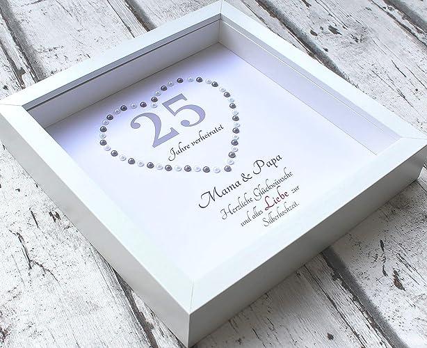 geschenk fur silberhochzeit 3d bilderrahmen personalisiert silberhochzeit ehejubilaum geschenke zum hochzeitstag