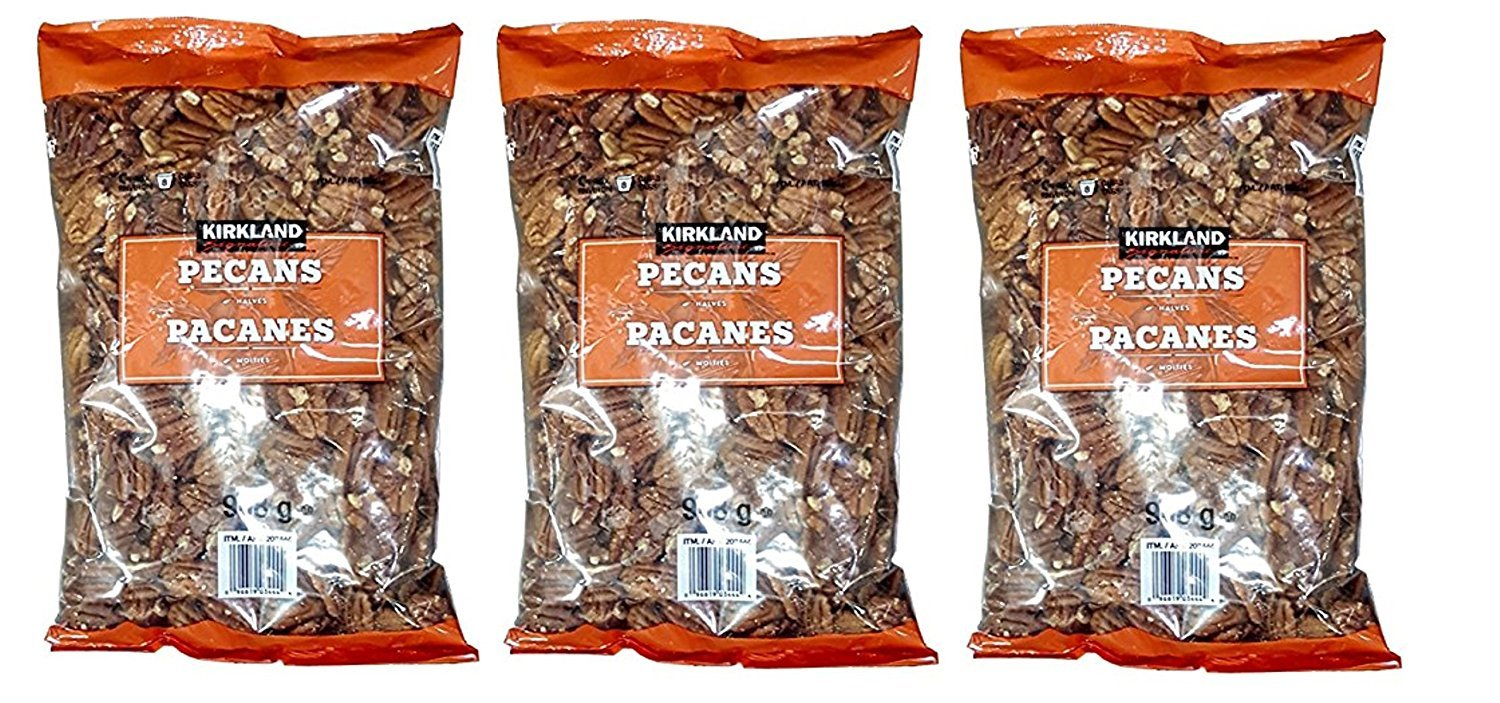 Kirkland Signature Pecan Halves, 2 Pound (3 Pack)