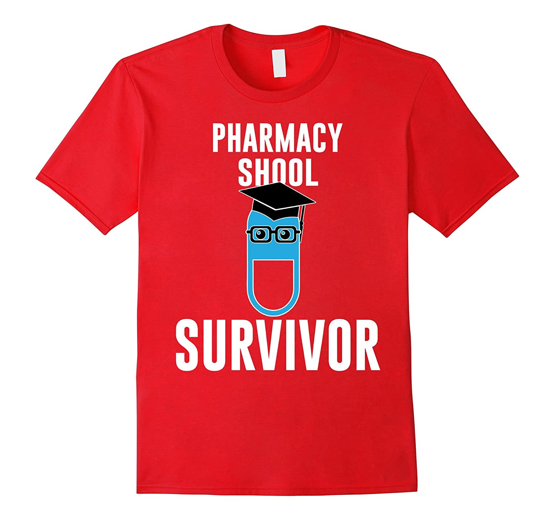 Pharmacy School Survivor T-Shirt - PharmD Graduation Gift-CD