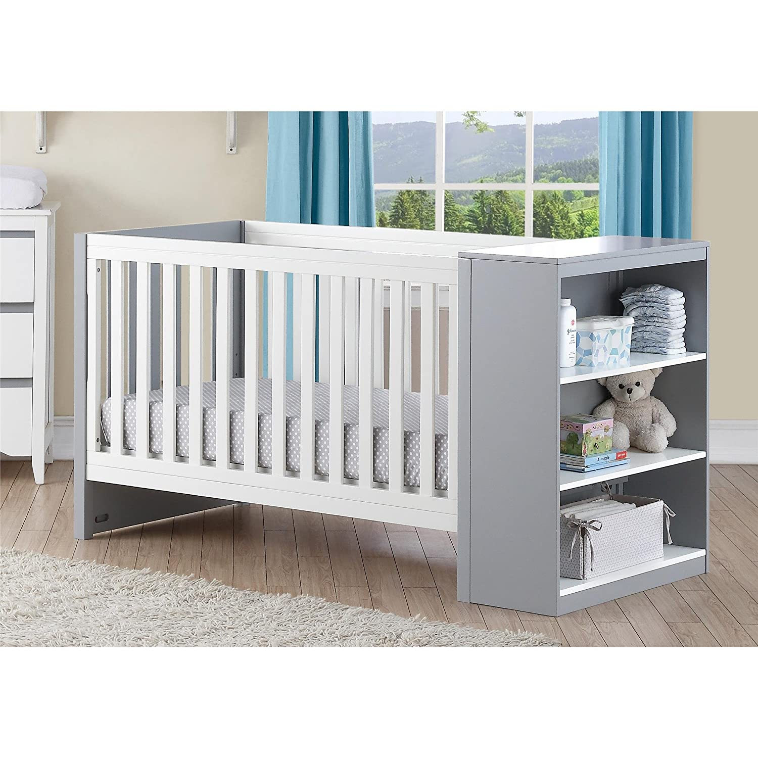 amazoncom  baby relax ayla in convertible crib with storage  - amazoncom  baby relax ayla in convertible crib with storagewhitegray  baby