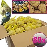 Bolas de grasa para pájaros - 80 bolas=7,2 kg - Alimento natural