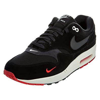 sale retailer 08e84 0ee96 Nike Men s Air Max 1 Premium Black Suede and Fabric Sneaker 41(EU)-