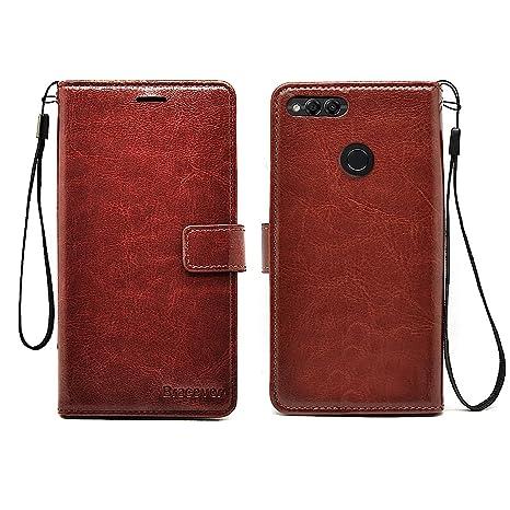 d05ed81cb7acdd Bracevor Inner Tpu Leather Flip Cover Case For Huawei  Amazon.in   Electronics