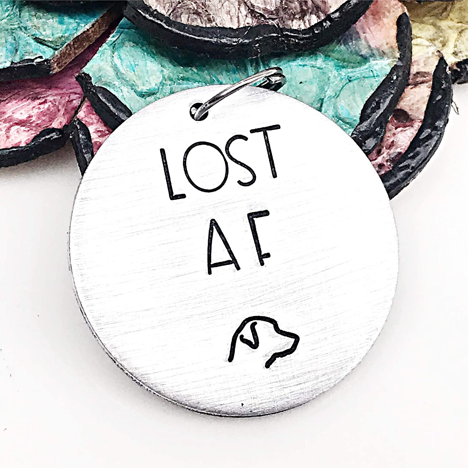 Personalized Funny Pet Tag - Lost AF - Funny Dog Tag - Pet ID Tag - Custom