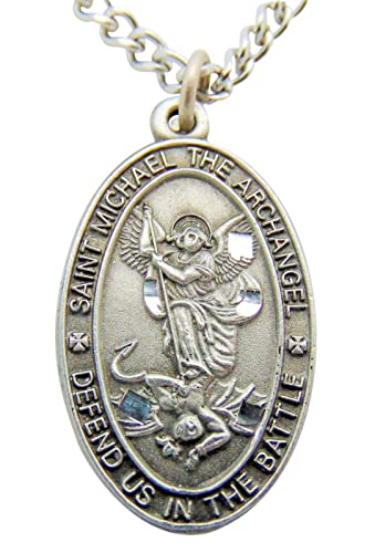 all st plated necklace saint brothers michael pin protector of silver my sisters and prayers