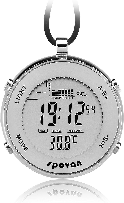 Al Aire Libre Impermeable Metal Digital Pesca barómetro Unisex Reloj de Bolsillo Ideal para Escalada Correr Pesca Competencia y Otros Deportes