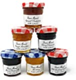 Bonne Maman Jam Assorted - 30 jelly jars x 1 ounce - 5 Apricot, 5 Orange, 5 Cherry, 5 Honey, 5 Grape, 5 Blueberry