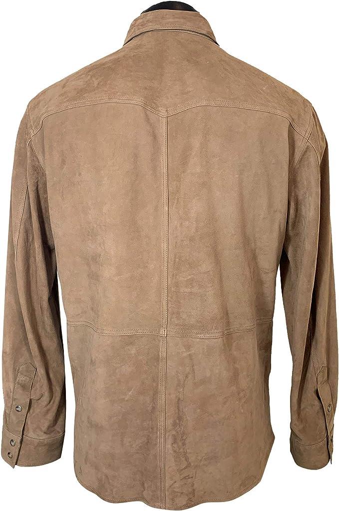 MASSIMO DUTTI 3308/239/742 - Camiseta de Ante para Hombre con ...