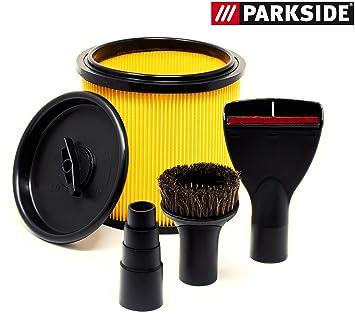 entire collection shop look good shoes sale Kit filtre pour Parkside PNTS 1500 A1 B2 B3 C4 comprenant 5 pièces: un  filtre plissé, un couvercle, un réducteur, une buse tapis, un pinceau  ventouse, ...