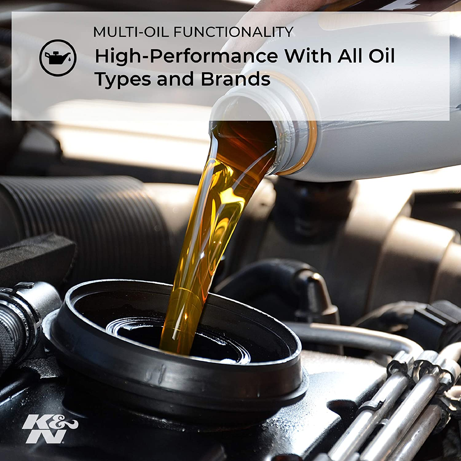 K&N Motorcycle Oil Filter: High Performance, Premium, Designed to be used with Synthetic or Conventional Oils: Fits Select Honda Vehicles, KN-116: Automotive