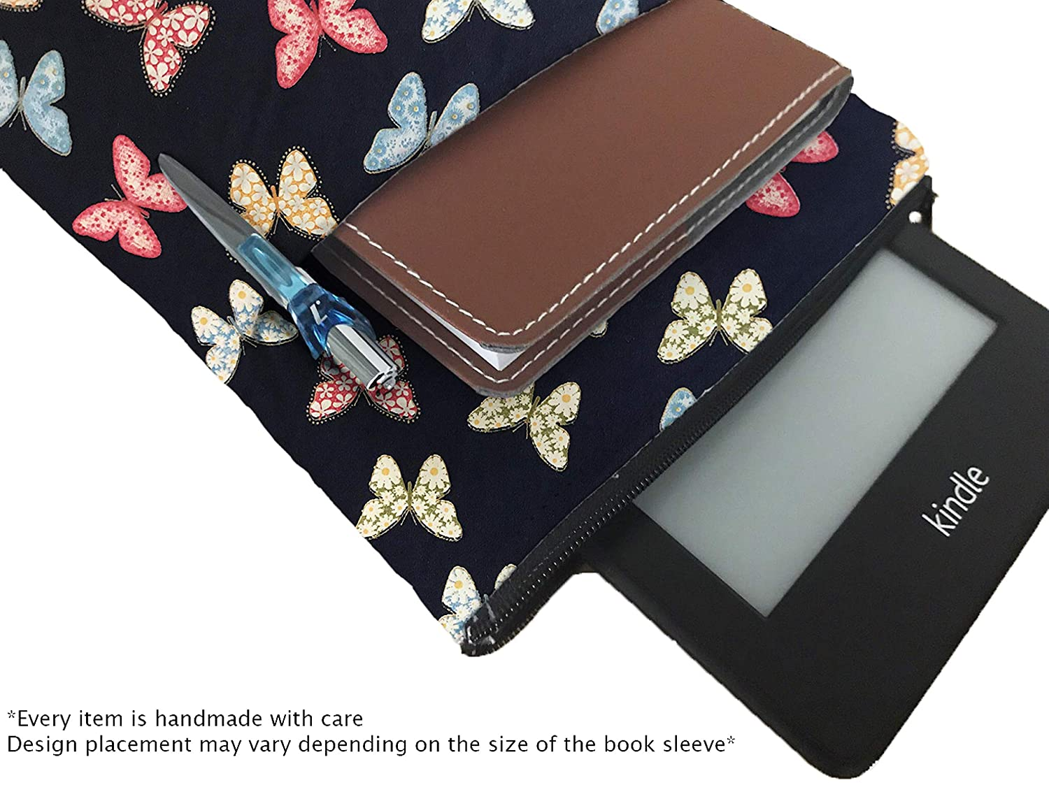 Notebooks and Pens Not Included Book Lover Gift Book Cover for Hardcover and Paperback Butterflies Book Sleeve