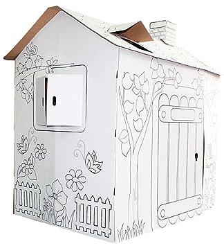 Tobar Colour Your Own Cardboard Playhouse