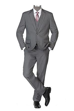 Studio Coletti Anzug Hose Weste Sakko Business Büro festlich hellgrau   Amazon.de  Bekleidung 97edc20583