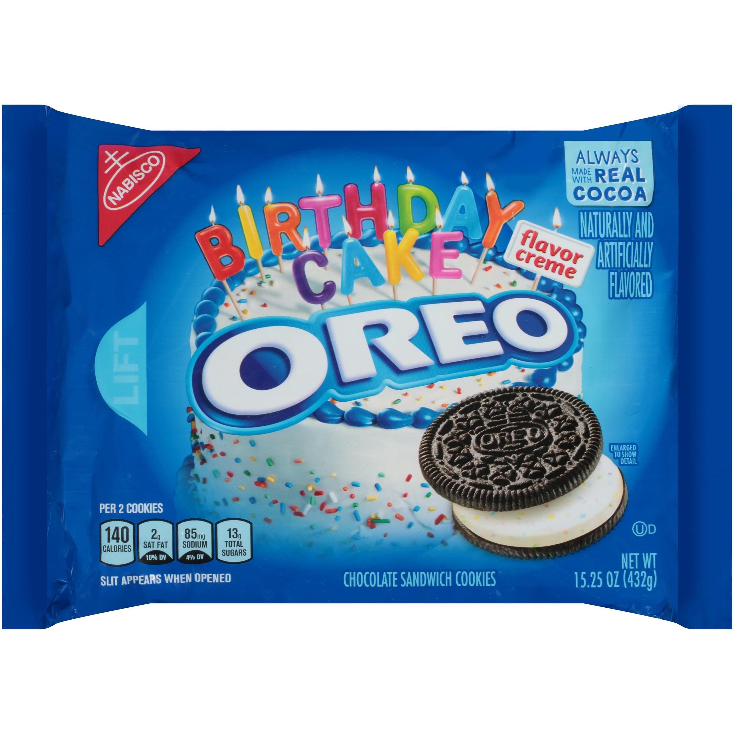 Amazon Com Oreo Golden Birthday Cake Sandwich Cookies 15 25 Ounce