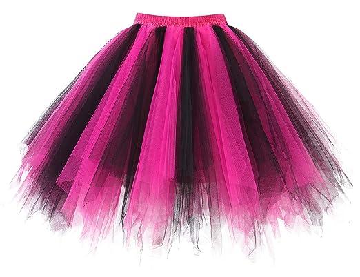 cdf1cc5cc HomRain Mujer Faldas Tul Enaguas Tutu Enagua Underskirt para Rockabilly  Vestidos