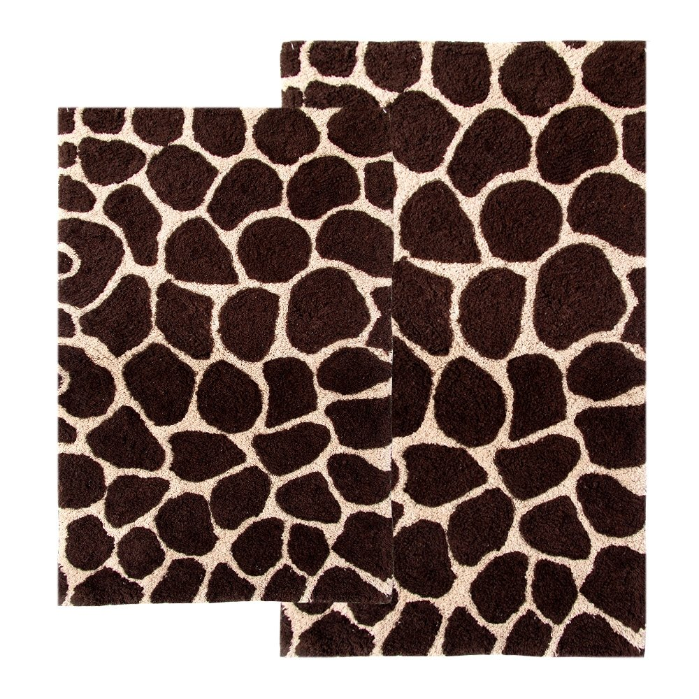 Amazon.com: Chesapeake 2-Piece Giraffe 21-Inch by 34-Inch and 24-Inch by  40-Inch Bath Rug Set, Chocolate and Beige: Kitchen & Dining - Amazon.com: Chesapeake 2-Piece Giraffe 21-Inch By 34-Inch And 24