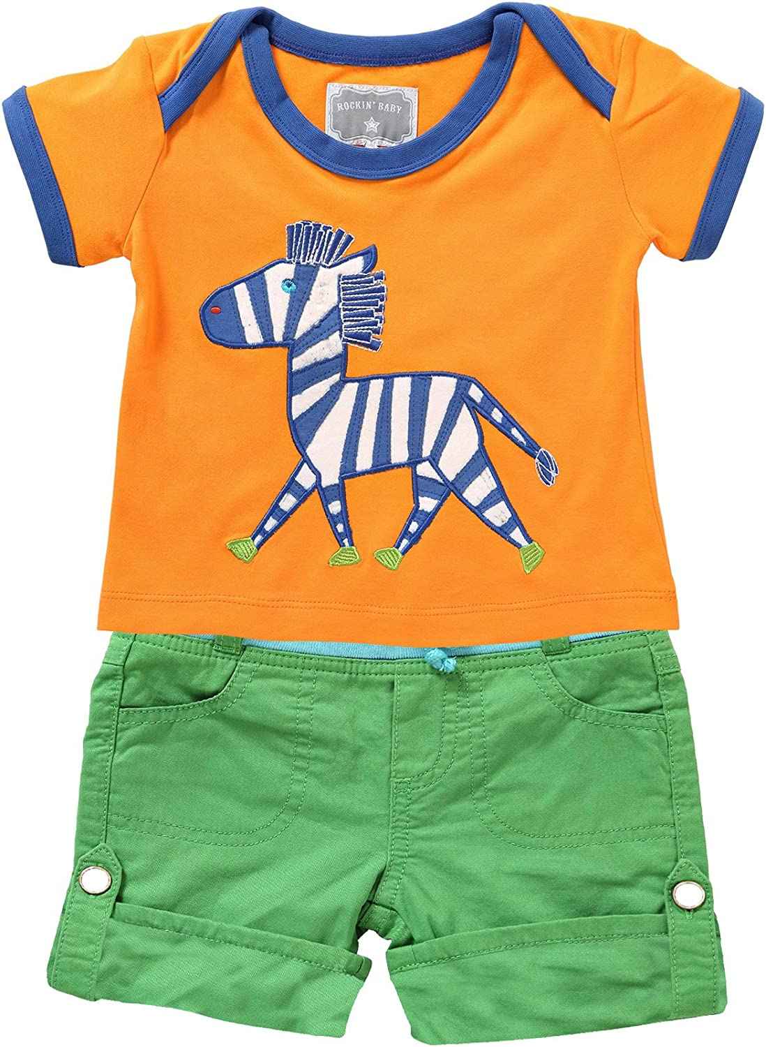 and James Cotton Short Outfit T-Shirt Rockin Baby Boys Short Sleevee Zebra Tee