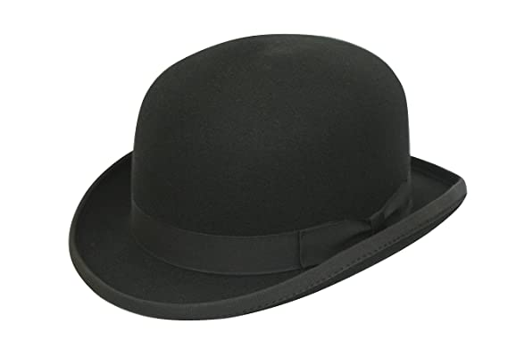 Men s Formal Traditional Black Wool Bowler Hat  Amazon.co.uk  Clothing 2b8ee684f8c