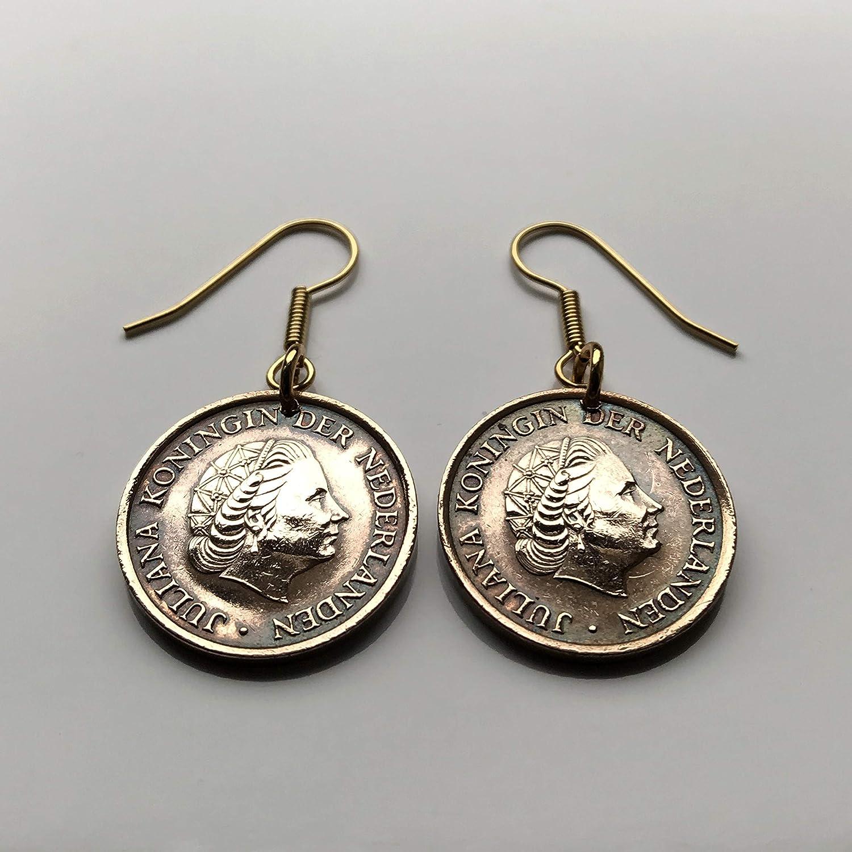 Amazon Com 1979 Netherlands 5 Cent Coin Earrings Dutch Queen Juliana Utrecht Nederlanden Holland Tilburg Groningen Leiden Almere Muiden Delft E000233 Handmade