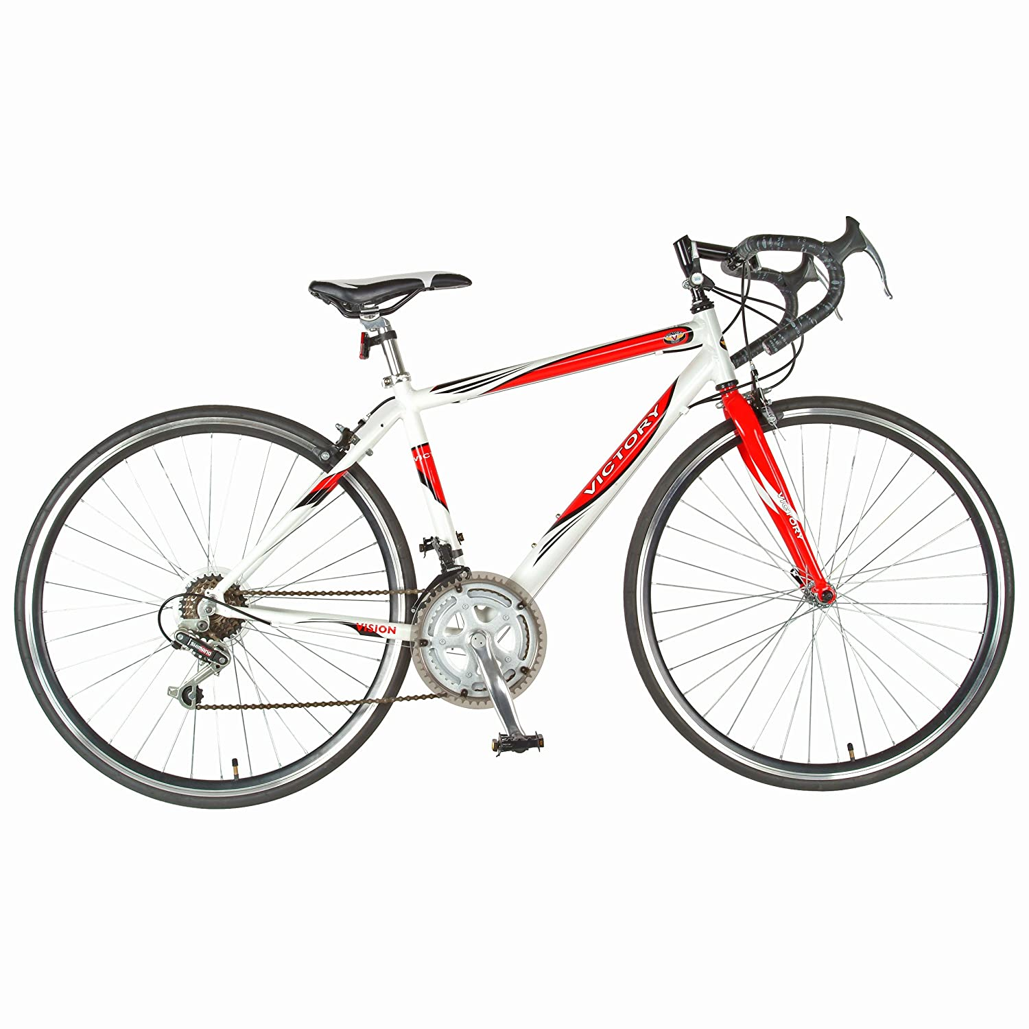 Amazon.com : Victory Vision Bike (Red/White, 700C X 20-Inch) : Road ...