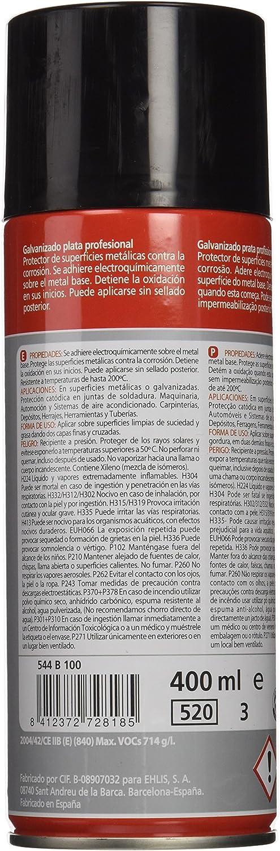 Ratio 544B100 - Spray Galvanizado Plata 400Ml Ratio: Amazon.es: Bricolaje y herramientas