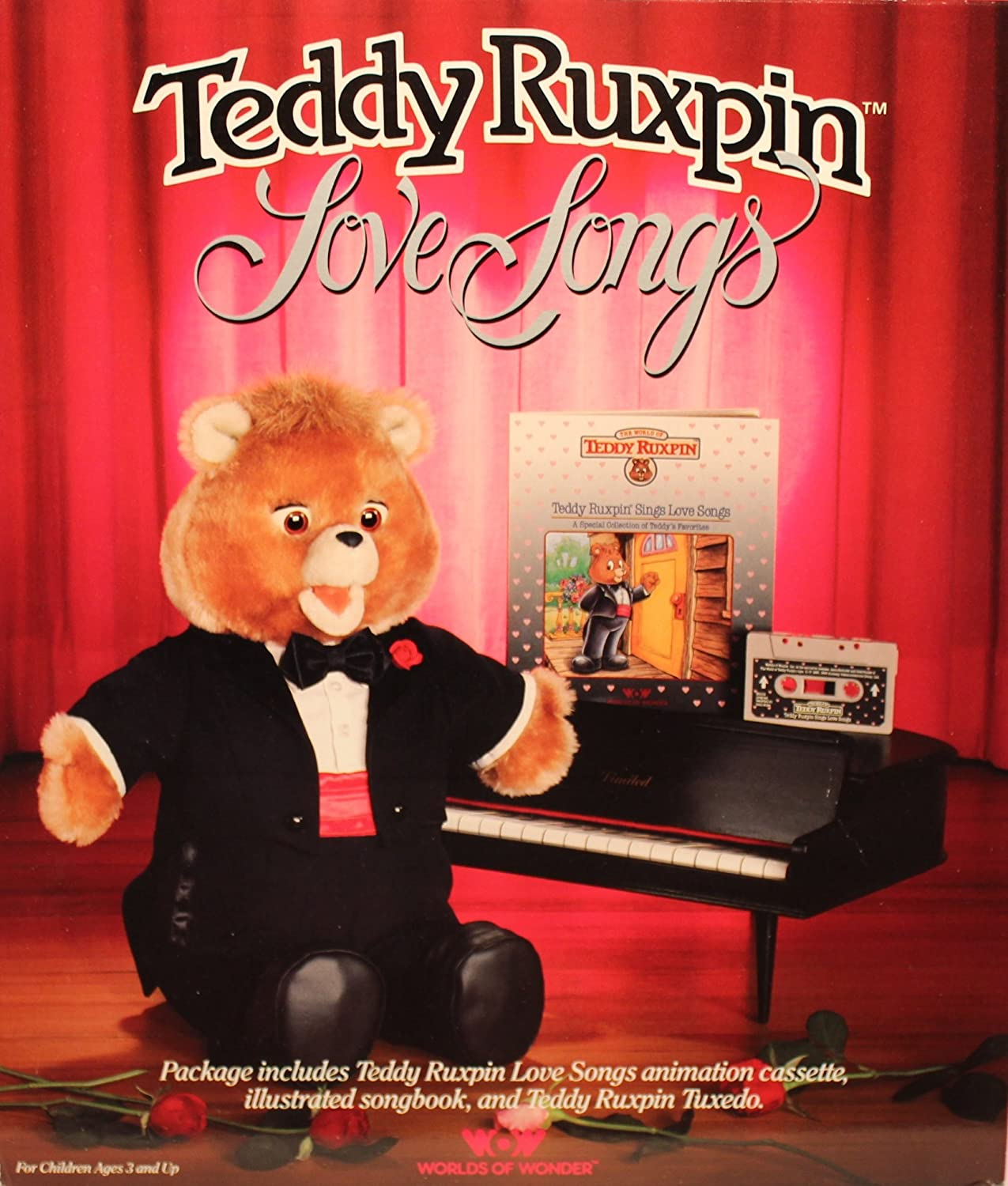 Teddy Ruxpin Sings Love Songs Book and Tape Teddy Ruxpin
