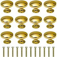 Schuifladenknop ronde kast knoppen 30 mm meubelknop met legering schroef voor kast lade keuken 12 stuks goud