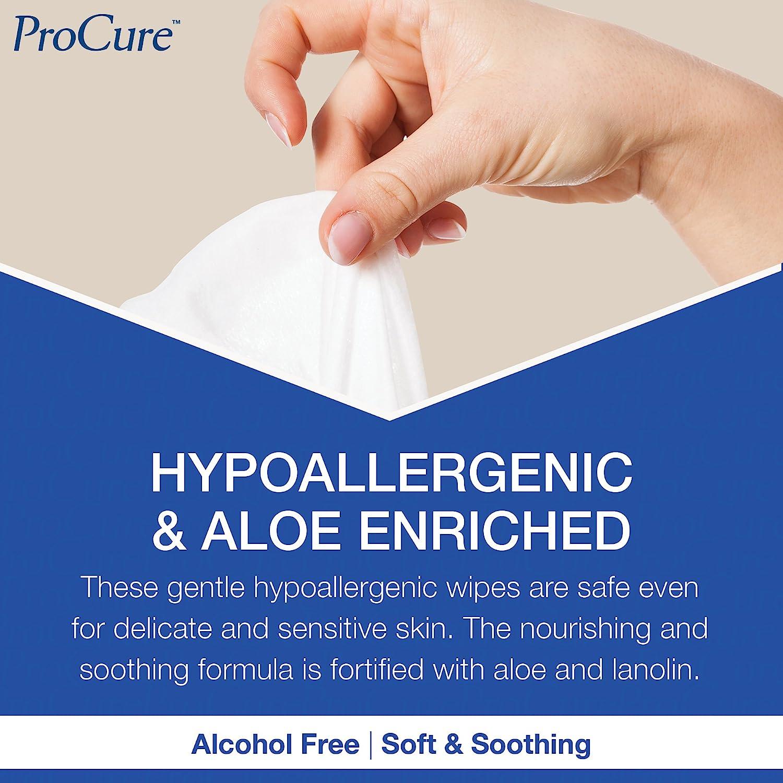 Curity Washcloth Premoisten Wipe 96 Count Alcohol Free HypoAllergenic PH Balance
