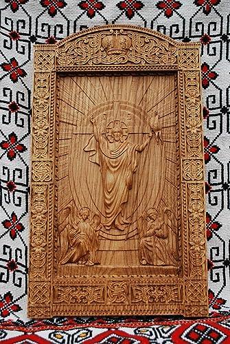 Amazon religious icon resurrection of christ wood carvings
